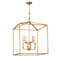 Regina Andrew Cape Lantern - Antique Gold Leaf