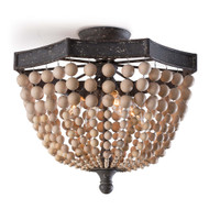 Regina Andrew Wood Beaded Semi Flush Mount