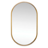 Regina Andrew Canal Mirror - Natural Brass