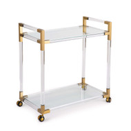 Regina Andrew Americano Bar Cart - Natural Brass