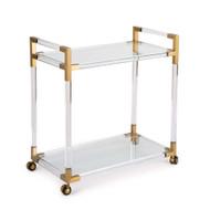 Regina Andrew Americano Bar Cart - Natural Brass