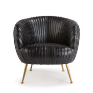 Regina Andrew Beretta Leather Chair - Modern Black