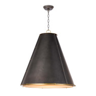 Regina Andrew French Maid Chandelier LG - Blackened Brass & Natural Brass