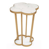 Regina Andrew Clover Table - Natural Brass