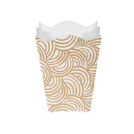 Worlds Away Wbwbreakerg Wastebasket - Hand Painted/Gold