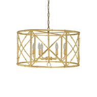 Worlds Away Zia Chandelier - Bamboo/Gold Leaf