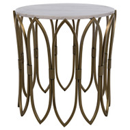Noir Nola Side Table - Metal W/Brass Finish