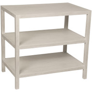 Noir 2 Shelf Side Table - White Wash