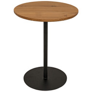 Noir Ford Tall Side Table - Gold Teak with Metal Base