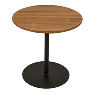 Noir Ford Small Side Table - Gold Teak with Metal Base
