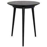 Noir Tripod Side Table - Charcoal Black