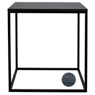 Noir Landon Side Table with Marble