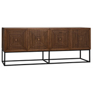 Noir Lanon Sideboard with Metal Base - Dark Walnut