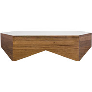 Noir Amsterdam Coffee Table - Dark Walnut - Walnut and Quartz