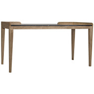 Noir Wod Ward Desk - Bleached Walnut with Stone Top