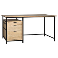 Noir Nabucco Desk - Bleached Walnut and Metal