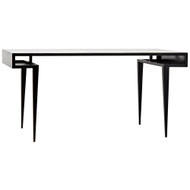 Noir Stiletto Desk - Metal