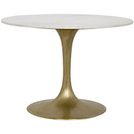 "Noir Laredo Table - 40"" - Metal and Quartz"