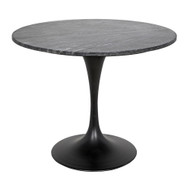 "Noir Laredo 36"" Bistro Table - Metal and Stone"