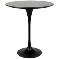 "Noir Laredo Bar Table 36"" - Black Stone Top"