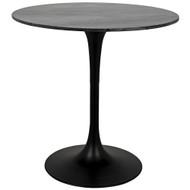 "Noir Laredo Bar Table 40"" - Black Stone Top"