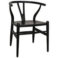 Noir Zola Chair - Charcoal Black