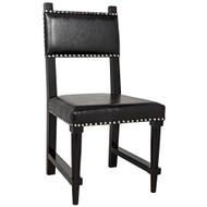 Noir Kerouac Chair - Distressed Black