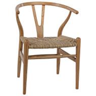 Noir Zola Chair w/Rush Seat - Natural