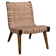 Noir Cohen Chair - Teak and Leather