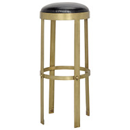 Noir Prince Stool - Gold with Leather
