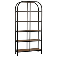 Noir SL07 Bookcase - Gold Teak and Metal
