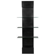 Noir Colombo Shelving - Metal W/Glass