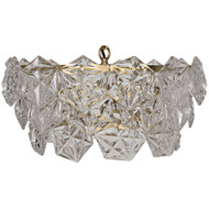 Noir Neive Chandelier - Small - Antique Brass