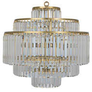 Noir Quintus Chandelier - Antique Brass