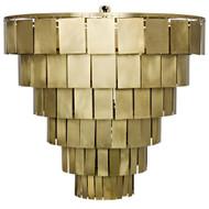 Noir Shield Chandelier - Antique Brass