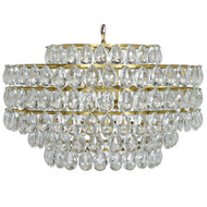 Noir Linden Chandelier - Antique Brass - Metal and Crystal