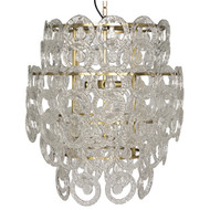 Noir Quebec Chandelier - Antique Brass