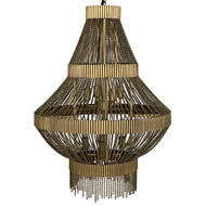 Noir Domo Chandelier - Metal with Brass