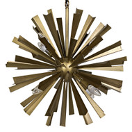 Noir Bero Chandelier - Antique Brass
