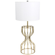 Noir Perry Table Lamp - Antique Brass