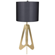 Noir Candis Lamp with White Shade - Antique Brass
