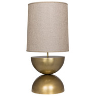 Noir Pulan Table Lamp - Antique Brass