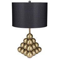 Noir Lea Table Lamp w/ Shade - Antique Brass