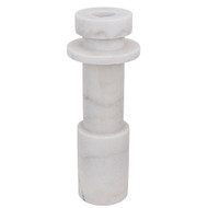 Noir Shine Candle Holder - White Stone