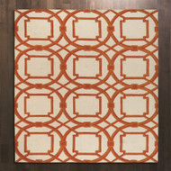 Global Views Arabesque Rug - Coral - 9 x 12