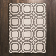 Global Views Arabesque Rug - Grey/Ivory - 9 x 12
