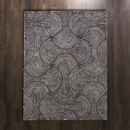 Global Views Arches Rug - Black/Ivory - 6 x 9
