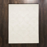 Global Views Arches Rug - Ivory/Ivory - 6 x 9