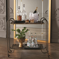 Global Views Blade Bar Cart - Bronze
