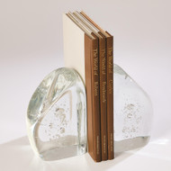 Global Views Chunk Bookends - Clear w/Bubbles